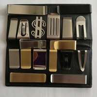 Wholesale Blank Money Clip Wholesale - Mix Newest DIY Blank Money Clip Credit Card Holder Silver Stainless steel 20PCS LOT Free Shipping