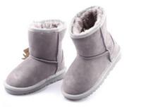 детские сапоги для девочек оптовых-2017 будет продавать новый реальный австралийский WGG5821 высокое качество дети мальчик девочка дети ребенок теплый снег сапоги ювенильный студент снег зима загрузки fr