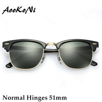 Wholesale Half White Color - AOOKO Hot Sale Designer Brand Sunglasses Master Men Sun Glasses Women Outdoor Semi Rimless Retro Sunglass Gafas de sol Sunglas 51mm