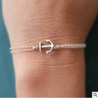 Wholesale Personalized Jewelry Friends - SL 023 2016 Hot Men's fashion jewelry with personalized best friend gifts anchor bracelet factory outlets