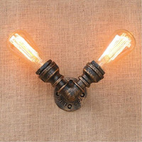 nostalgie lampe großhandel-American Nostalgia Water Pipe Wandleuchte Dekorative Kleine Wandleuchte Edison Loft Industrail Wandleuchte ixture Vintage Home Lighting
