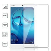 Wholesale Huawei Tablet Glass - Wholesale-0.33mm Tempered Glass Film For Huawei MediaPad M3 8.4 Glass Screen Protector BTV-W09 M3 8.4 inch Tablet Protective Saver 9H
