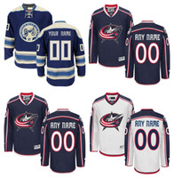 Wholesale Xxl Jackets Low Price - Lowest Price ! Personalized Columbus Blue Jackets Jerseys Blue Custom Stitched Any Name Any Number Hockey Jersey Embroidery Logos Size 48-56
