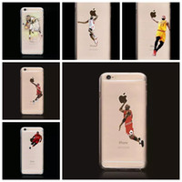 Wholesale Basketball Iphone 5c Case - 2017 Funny Basketball Player Curry Westbrook transparent cases Soft silicone clear case for iphone 6 6s Plus 7 7plus 5 5S 5C case