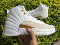 Wholesale Canvas Shoes Wings - 2017 hot Air Retro 12 high Master OVO white Black Barons Psny Suede Wings Cherry taxi playoffs French blue Gym red Wool basketball shoes