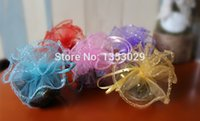 Wholesale Organza Bags Round - Wholesale- Free Shipping 100pcs Lot 26cm 10inch Dia Round Drawstring Christmas Organza Gift Bags Jewelry Packing Pouch Sweet Organza Bags