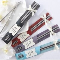 Wholesale Wholesale Chinese Dinnerware - Chinese Style Wedding Metal Stainless Steel Chopsticks For Home Kitchen Dinnerware Practical Chopstick Personality Factory Direct 1 1pr R