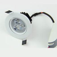 Wholesale Spot 12v Switch - White Shell 110V 220V or 12v Dimmable 9W Led Downlight Round Ceiling Recessed Spot led Light lamp Indoor Lighting CE UL SAA