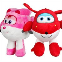All'ingrosso-Carino Super Wings Jett / Dizzy Air Plane Toy Peluche Hot Cartoon Peluche Doll per Baby regalo bambini 20cm / 30cm Kawaii Animation Dolls