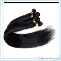 "Wholesale Long Brazilian Weave Cheap - Cheap Brazilian nature Human Hair Extensions Lovely Silky Straight Hair remi Nature Black Hair Longer length 28""Weft Free ship 3,4,5pcs lot"