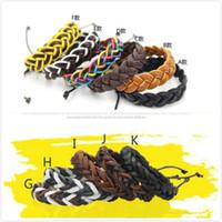 bracelet bricolage punk achat en gros de-Bracelets en cuir Bijoux de mode pour les filles Garçons Charme Punk Style Bracelets Bracelets en cuir Réglable Manuelle À La Main DIY Mains Chaînes