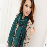 Wholesale Shawls Wave - new fashion wave printed scarf chiffon scarf scarf and Korean shoulder dual-purpose group