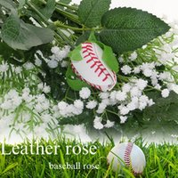 Display Flower sports bouquet - Softball Baseball Roses made from real softballs Softball Baseball leather roses bouquet for sports fun