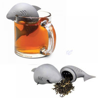 Wholesale Coffee Shark - Cute Silicone Shark tea infuser Leaf Strainer Herbal Spice Filter Diffuser Filter Teapot Teabags for Tea & Coffee Drinkware