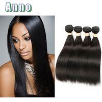 Wholesale 32 Pcs - anno Malaysian Human Hair 4 Pcs Straight Hair Weave Bundles 400g Grade 7A Malaysian Virgin Hair Straight Extension