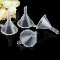 Wholesale Wholesale Bar Plastic - Transparent Mini Plastic Small Funnels Perfume Liquid Essential Oil Filling Empty Bottle Packing Kitchen Bar Dining Tool DHL Ship XL-G234