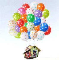 Wholesale Balloons Latex Printing - Latex Balloons of 12 Inch Polka Dot Print Wedding Decoration Supplies Party Supplies Balloons Multicolor 2018 New