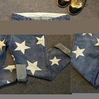 Wholesale Jeans Star Women - Wholesale- 2017 stretch jeans women harem jeans pants stars print plus size 4XL