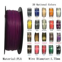 Wholesale Pla Plastic 3d Printer - 1KG 2.2LBS 3D Printer filament Printer Supplies PLA 1.75mm Plastic Rubber Consumables For industrial medical education Material