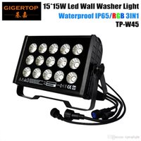 ingrosso pareti luminose-TIPTOP TP-W1515 15 * 15W Impermeabile DMX512 Led Wall Washer Light RGB 3IN1 8CH China Led Stage Light Led Outdoor Light High Bright