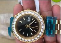 Wholesale Watch Cases China - new gold diamond bezel china automatic men watch big case sport Stainless steel fashion brand new luxury wristwatch men's Watches