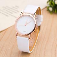 Wholesale Elegant Leather Watch - Hot Elegant Luxury brand women watches Leather strap Quartz Wristwatches Casual watch For ladies best gift Clock Relogio Feminino 2017
