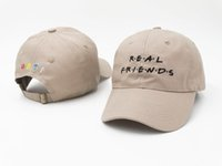 Real Friends Khaki Femmes Hommes Snapback Street Fashion Baseball Hip Hop Peaked Hats Populaire Sport Casual Casquette Outdoor Summer Headwear PPM