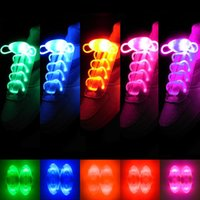Wholesale Wholesale Shoe Parts - 30pcs(15 pairs) 2017 LED Shoelaces Shoe Laces Flash Light Up Glow Stick Strap Shoelaces Disco Party Shoes Decor Popular Strings part dance