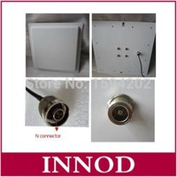 Wholesale passive antenna for sale - Group buy rfid uhf directional antenna dbi gain mhz passive liear polarization antenna outdoor anti weather km h N connector