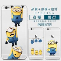 Wholesale Minions Iphone Back Case - Minions Series Phone Case For iPhone 6 6s Cute Cartoon High Quality Painted TPU Soft Silicone Skin Back Cover Shell