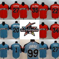 Wholesale Wholesale Browns Jerseys - 2017 All-Star #99 Aaron Judge Clayton Kershaw Mike Trout Giancarlo Stanton Bryce Harper Cody Bellinger Carlos Correa Josh Donaldson Jersey
