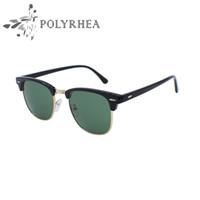 Wholesale Elegant Polarized Sunglasses - 2017 New Half Metal Sunglasses UV400 Polarized Sunglasses Brand Designer Inspired Club Women Men Fishing Elegant Star Master Mirror Sun Glas