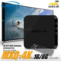 Wholesale Set Box Hdmi - 2017 New MXQ-4K RK3229 Quad Core Android TV Box UHD 4K 60fps decoding HDMI 2.0 KODI Miracast DLNA Airplay Set top box