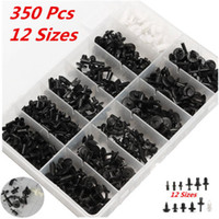 Wholesale 350pcs Auto Car Push Retainer Pin Rivet Trim Clip Panel Moulding Assortments Kit Fit Market Models Car