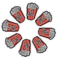 ingrosso popcorn bag-Toppe fai popcorn fai-da-te su ferro ricamato patch applique ferro su patch accessori per cucire adesivi badge su borsa vestiti