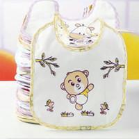 Wholesale Cute Towels For Girls - Wholesale- Color Random Baby Bib Cute Infant Saliva Towels Newborn Wear Burp Cloths Cotton Soft Scarf For Boy Girl