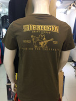 Wholesale Denim Tshirt - wholesale top quality US SIZE Men's Robin Rock Revival true t-shirt Jeans Crystal Studs Denim shirt Designer tee Men's tshirt size M-3XL