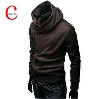 Wholesale Turtleneck Cardigan - Wholesale-2016 Autumn & Winter Fashion Casual Slim Cardigan Assassin Creed Hoodies Sweatshirt Outerwear Jackets Men.Brand
