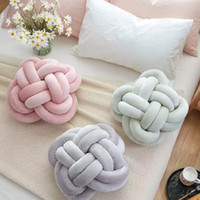 Wholesale- Mode Lovely Cartoon Knot Ball Coussin Pillow Baby Calm Sleep Dolls Peluche pour enfants Kids Decor Bed Room