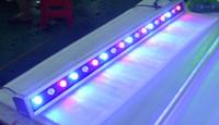 luz de inundación ip67 al por mayor-10 unids / lote de alta potencia 12W 46 * 46 * 500 mm IP65 impermeable exterior llevó la luz de inundación LED lámpara de arandela de pared paisaje lavado luz de pared