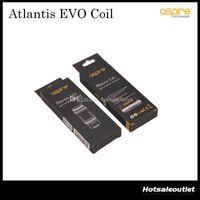 aspirar atlantis bobinas autênticas venda por atacado-A substituição autêntica do tanque de Aspire Atlantis EVO bobina 0.4 ohm 0.5 ohm * Bobinas de Clapton para o original do tanque 100% de Atlantis EVO
