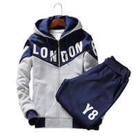 Wholesale Mens Korean Style Hoodies - Wholesale-5XL 2016 Autumn Stand Collar Korean Style Hoodies Sweatshirt Men Fashion SportSuit Chandal Hombre Sport Suit Mens Hoodie+Pants