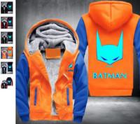 Wholesale Batman Sweatshirt Woman - Fashion USA size Batman Men Women Cosplay Luminous Zipper Jacket Sweatshirts Thicken Hoodi