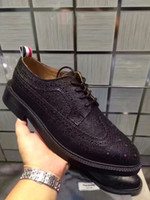 Wholesale Original Quality Shoes - Exclusive original quality tb new york fashion luxury brand genuine leather ankle shoes