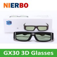 Vente en gros- DLP-LINK Active 3D Glasses USB Charge 3D Cinema Universal 3D Ready Projecteur Home cinéma Professional 96-144Hz Li Battery