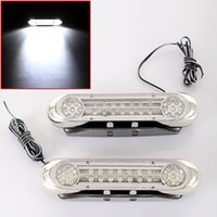 Feu de course 28 LED DRL Daytime Running Light Car Fog Day Driving Lampe blanche DRL 12V