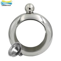 Wholesale JUJOR Bangle Bracelet Hip Flask Silver Color Grade Stainless Steel Whiskey Flasks High Quality OZ Drinkware And Funnel Set