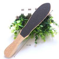 Wholesale Double Sided Foot Rasp - 1pc Double Side Grinding Wooden Foot File Sandpaper Feet Rasps Callus Remover Hard Dead Skin Pedicure Tools Exfoliate Foot Skin Care Kit