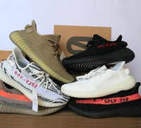 Wholesale Green Spy - 2017 Best SPY 350 V2 V3 boost CP9366 triple white Zebra UV light Kanye west sneakers Men Women Running Shoes size 5 to 11