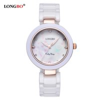 Wholesale China Charms Suppliers - Longbo Wholesale Ceramic Watches Shell Stylish Dial Clock Watch China Supplier Timepieces Women Ladies Charm Dress Watches relojes de mujer